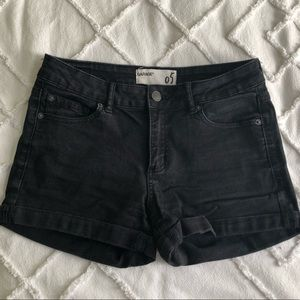 Garage - Black Denim Shorts